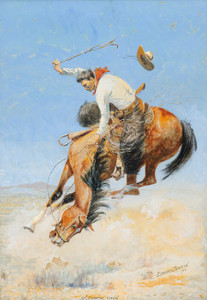 Art Prints of Swappin' Ends, 1916 by Edward Borein