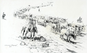 Art Prints of Trail Herd by Edward Borein