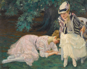 Art Prints of A Quiet Hour by Edward Cucuel