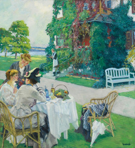 Art Prints of Five O'Clock Tea by Edward Cucuel