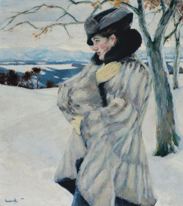 Art Prints of Girl with Fur Coat by Edward Cucuel