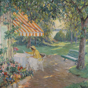 Art Prints of Summer on Lake Starnberg by Edward Cucuel
