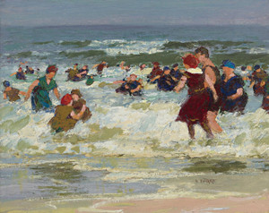 Art Prints of At the Beach II by Edward Henry Potthast