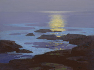 Art Prints of Moonlight, the Coast of Maine by Edward Henry Potthast