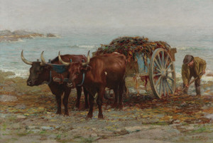 Art Prints of Gathering Seaweed by Edward Henry Potthast