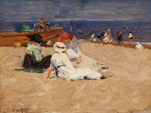 Art Prints of Ladies in White Dresses by Edward Henry Potthast