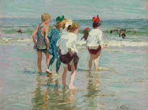 Art Prints of Summer Day, Brighton Beach by Edward Henry Potthast