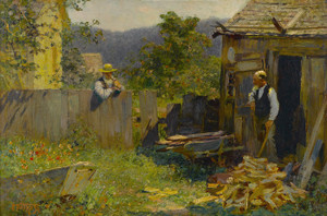 Art Prints of Chopping Wood by Edward Henry Potthast