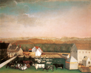 Art Prints of David Leedom Farm, 1849 by Edward Hicks