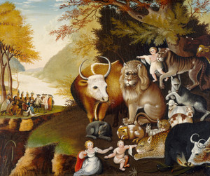 Art Prints of Peaceable Kingdom, 1834 by Edward Hicks
