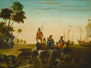 Art Prints of The Landing of Columbus by Edward Hicks