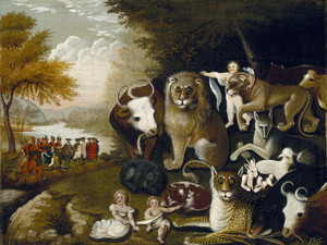 Art Prints of The Peaceable Kingdom, II by Edward Hicks