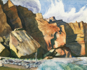 Art Prints of Shoshone Cliffs, Wyoming by Edward Hopper