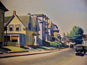 Art Prints of Sun on Prospect Street, Gloucester, Massachusetts by Edward Hopper