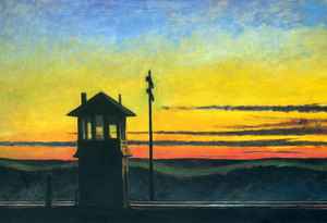 Art Prints of Railroad Sunset by Edward Hopper