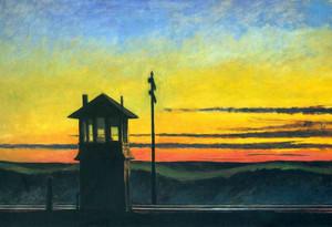 Art Prints of Railroad Sunset by Edward Hopper