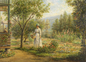 Art Prints of Gathering Flowers by Edward Lamson Henry