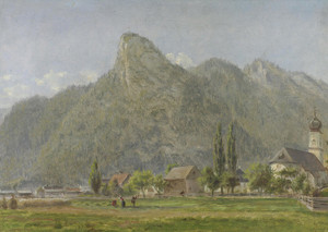 Art Prints of Koeffel and Church, Oberammergau Bavarian Alps by Edward Lamson Henry