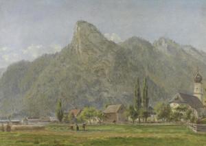 Art Prints of Koeffel and Church, Oberammergau Bavarian Alps by Edward Lamson Henry