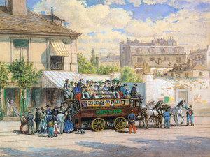 Art Prints of The Tour Bus, 1875 by Edward Lamson Henry