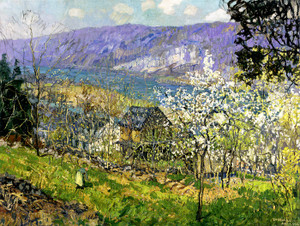 Art Prints of Spring at Point Pleasant on the Delaware River by Edward Redfield