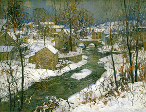 Art Prints of The Village of Carversville by Edward Redfield