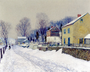 Art Prints of The Village of Center Bridge by Edward Redfield