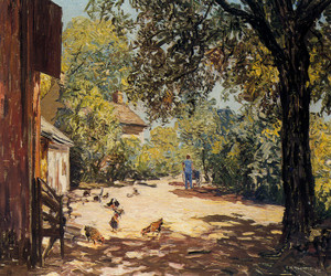 Art Prints of The Barnyard by Edward Redfield
