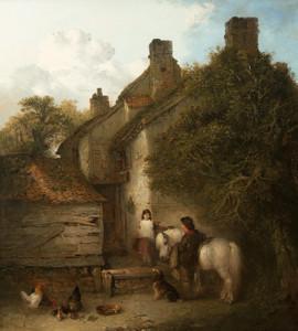 Art Prints of Children with a Grey Pony by Edward Robert Smythe