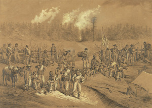 Art Prints of A Lull in the Fight (20766L) by Edwin Forbes 1876