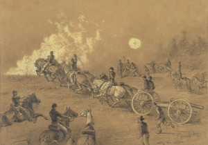 Art Prints of Going into Action (20768L) by Edwin Forbes 1876