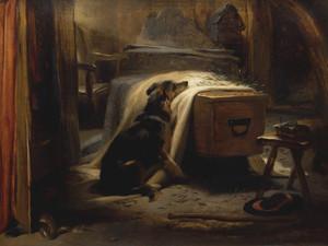 Art Prints of The Old Shepherd's Chief Mourner by Edwin Henry Landseer