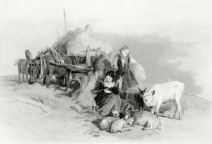 Art Prints of Harvest Time in the Scottish Highlands by Edwin Henry Landseer