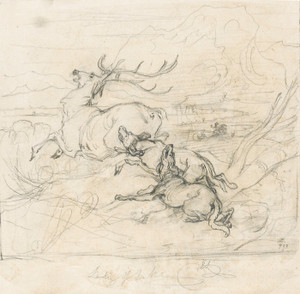 Art Prints of Illustration to the Lady of the Lake by Edwin Henry Landseer