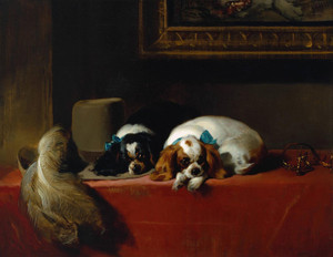 Art Prints of King Charles Spaniels by Edwin Henry Landseer