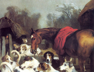 Art Prints of No Hunting Till the Weather Breaks by Edwin Henry Landseer