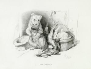 Art Prints of The Beggar by Edwin Henry Landseer