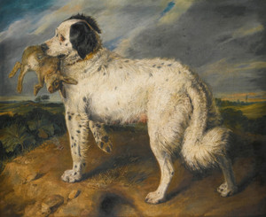 Art Prints of Champion Venus, a Landseer Newfoundland by Edwin Henry Landseer