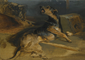 Art Prints of Wounded Hound from Walter Scott's The Talisman by Edwin Henry Landseer