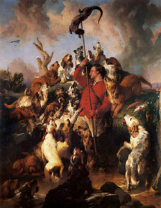 Art Prints of The Otter Hunt by Edwin Henry Landseer