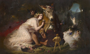Art Prints of Midsummer Night's Dream, Titania and Bottom by Edwin Henry Landseer