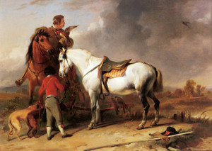 Art Prints of The Hawk Trainer by Edwin Henry Landseer