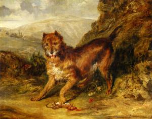 Art Prints of Bob a Favorite Terrier of Mr. W Gosling by Edwin Henry Landseer