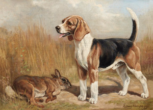 Art Prints of Beagle After the Hunt by Edwin Megargee
