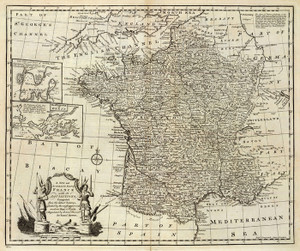 Art Prints of Map of France, 1747 (3733009) by Emanuel Bowen