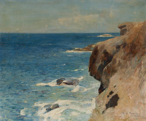 Art Prints of Cliffs Along the Sea, Saint Thomas by Emil Carlsen