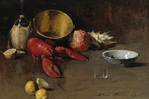 Art Prints of Still Life with Lemons and Lobster by Emil Carlsen