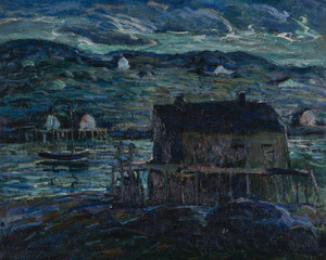 Art Prints of Harbor at Night by Ernest Lawson