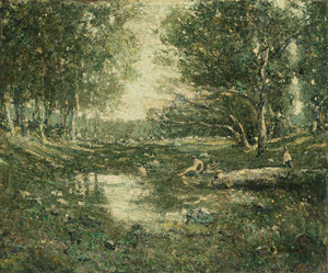Art Prints of Bathers, Woodland by Ernest Lawson