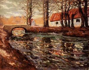 Art Prints of River Landscape by Ernest Lawson